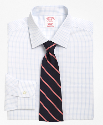 Madison Classic-Fit Dress Shirt, Non-Iron Graph Check
