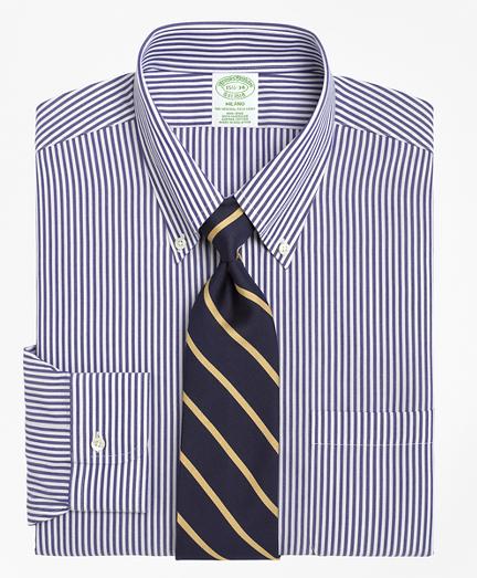 Milano Slim-Fit Dress Shirt, Non-Iron Bengal Stripe