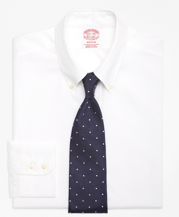 Madison Classic-Fit Dress Shirt, Button-Down Collar White