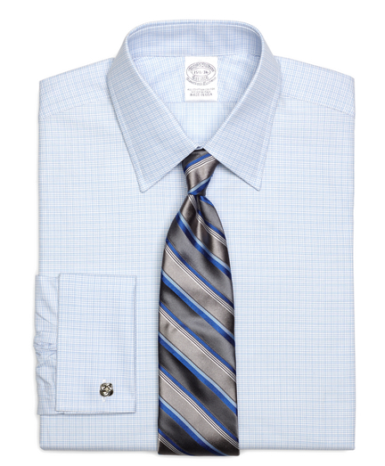 Slim Fit Micro Tonal Check French Cuff Dress Shirt