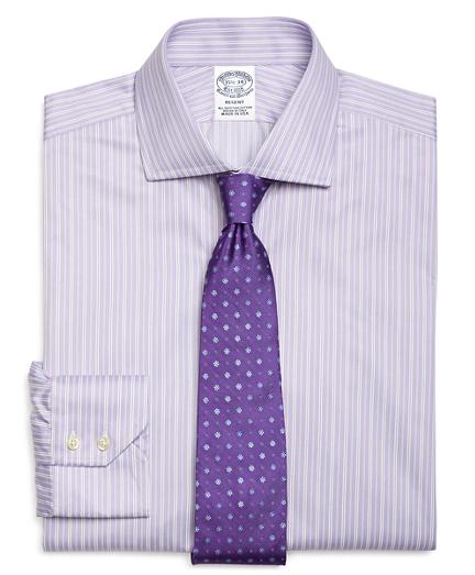 Regent Regular-Fit Dress Shirt, Alternating Split Stripe