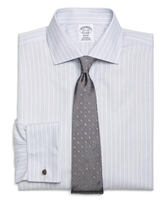 Non-Iron Regent Fit  Triple Stripe French Cuff Dress Shirt Grey