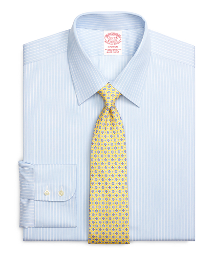 Madison Relaxed-Fit Dress Shirt, Music Stripe