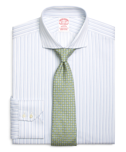Madison Relaxed-Fit Dress Shirt, Tonal Double Stripe