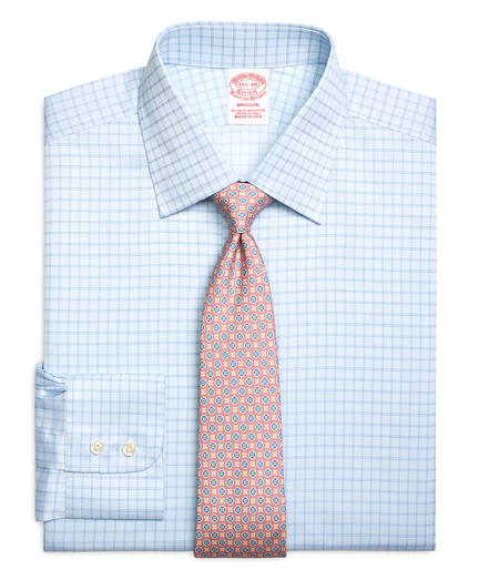 Madison Relaxed-Fit Dress Shirt, Twin Check