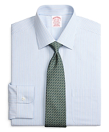 Non-Iron Traditional Fit Ground Stripe Dress Shirt