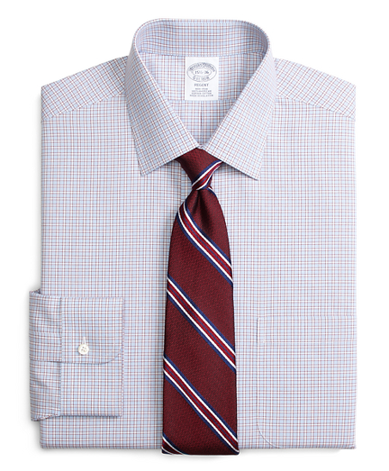 Regent Regular-Fit Dress Shirt, Non-Iron Hairline Framed Check