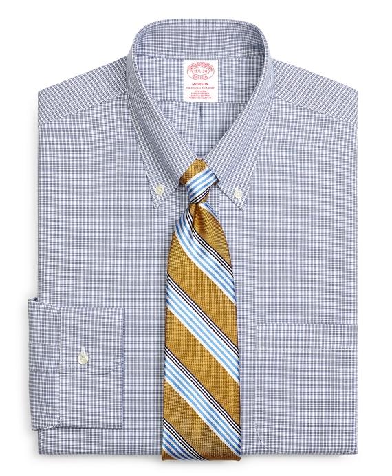 Madison Classic-Fit Dress Shirt, Non-Iron Micro Check Blue