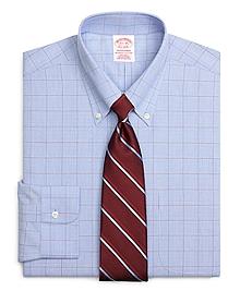 Non-Iron Traditional Fit Glen Plaid Dress Shirt