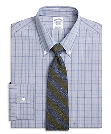 Regent Fit Chambray Glen Plaid Dress Shirt