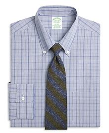 Milano Fit Chambray Glen Plaid Dress Shirt