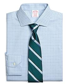 Non-Iron Madison Fit Alternating Check Dress Shirt