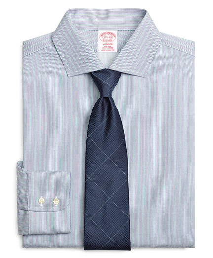 Madison Relaxed-Fit Dress Shirt, Non-Iron Hairline Stripe