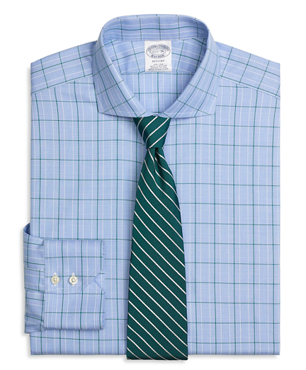 Regent Regular-Fit Dress Shirt, Non-Iron Glen Plaid