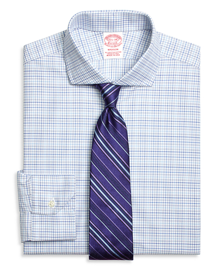 Madison Relaxed-Fit Dress Shirt, Triple Check