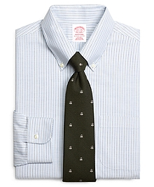 Non-Iron Traditional Fit BrooksCool® Alternating Candy Stripe Dress Shirt