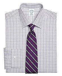 Non-Iron Regent Fit Triple Twin Check Dress Shirt