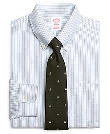 Non-Iron Madison Fit BrooksCool® Alternating Candy Stripe Dress Shirt