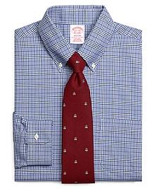 Non-Iron Madison Fit BrooksCool® Glen Plaid Dress Shirt