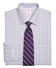 Non-Iron Traditional Fit Triple Twin Check Dress Shirt