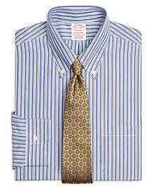 Non-Iron Traditional Fit Bold Split Stripe Dress Shirt