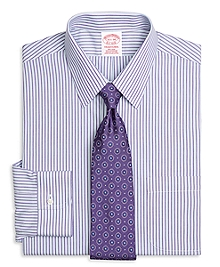 Non-Iron Traditional Fit Alternating Split Stripe Dress Shirt