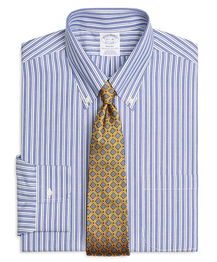 Regent Regular-Fit Dress Shirt, Non-Iron Bold Split Stripe