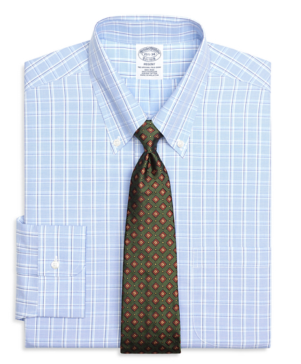 Regent Fitted Dress Shirt, Non-Iron Alternating Twin Check