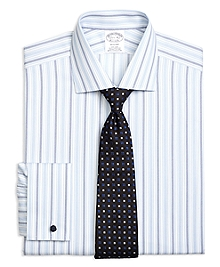 Non-Iron Regent Fit Hairline Framed Triple Stripe French Cuff Dress Shirt