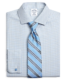 Non-Iron Regent Fit Shadow Check French Cuff Dress Shirt