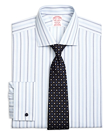 Non-Iron Madison Fit Hairline Framed Triple Stripe French Cuff Dress Shirt