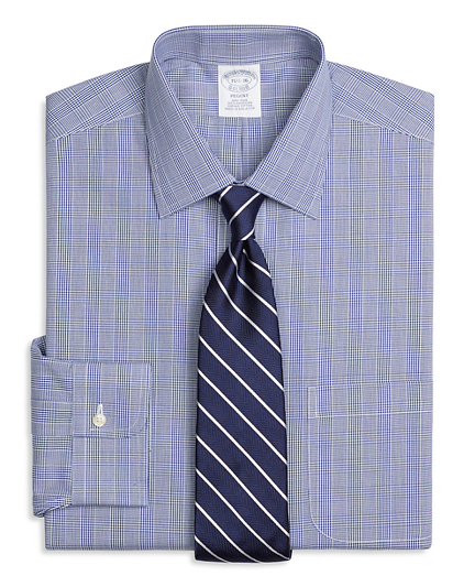 Regent Fitted Dress Shirt, Non-Iron Glen Plaid