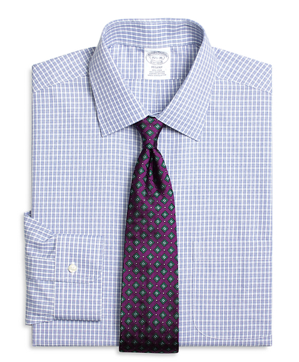 Regent Regular-Fit Dress Shirt, Non-Iron Parquet Check
