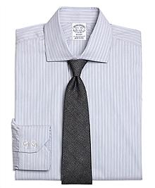 Regent Fit Heathered Frame Stripe Dress Shirt
