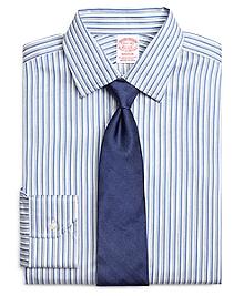 Madison Fit Heathered Twin Stripe Dress Shirt