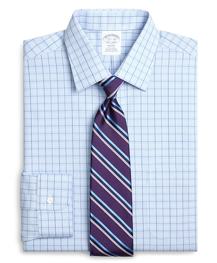 Regent Regular-Fit Dress Shirt, Non-Iron Glen Plaid Overcheck