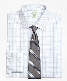 Non-Iron Milano Fit Hairline Overcheck Dress Shirt