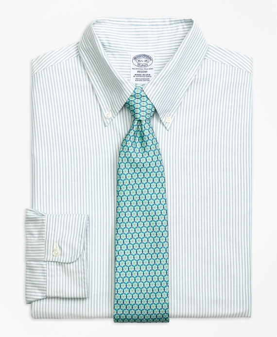 Original Polo® Button-Down Oxford Regent Fitted Dress Shirt, Bengal Stripe Aqua