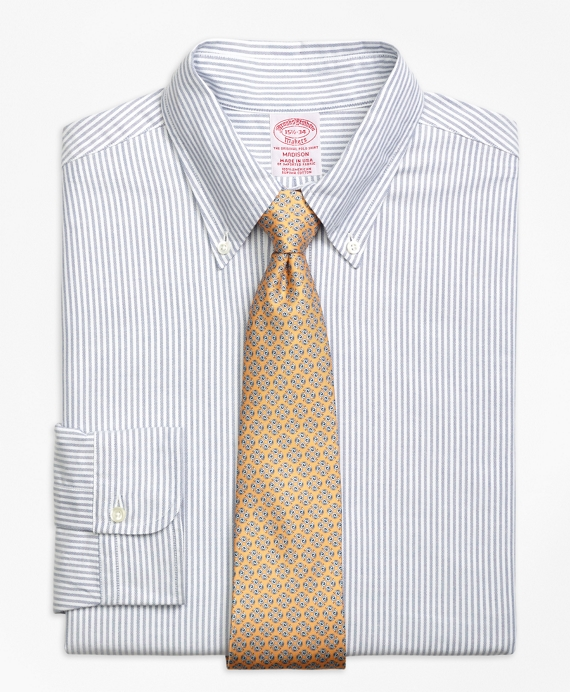 Original Polo® Button-Down Oxford Madison Relaxed-Fit Dress Shirt, Bengal Stripe Blue