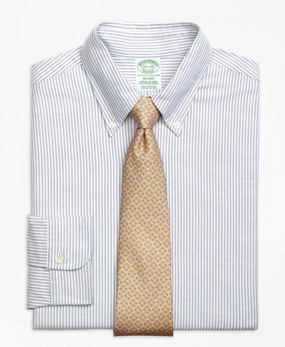 Original Polo® Button-Down Oxford Milano Slim-Fit Dress Shirt, Bengal Stripe Blue