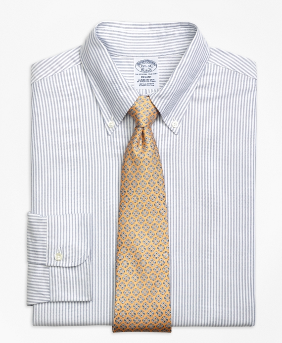 Original Polo® Button-Down Oxford Regent Fitted Dress Shirt, Bengal Stripe Blue
