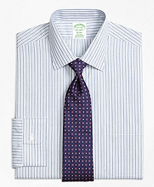 Non-Iron Milano Fit Split Stripe Dress Shirt