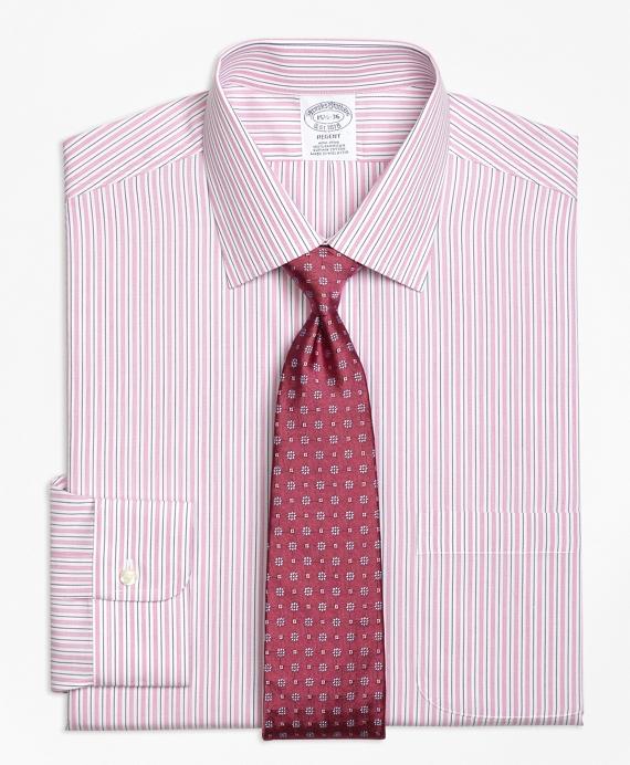 Regent Regular-Fit Dress Shirt, Non-Iron Split Stripe Pink