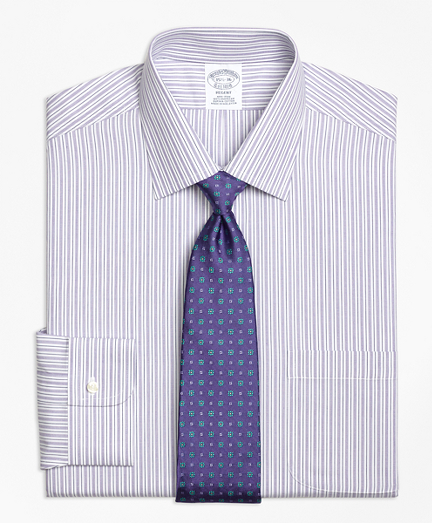 Regent Fitted Dress Shirt, Non-Iron Split Stripe