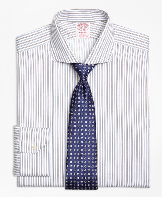 Madison Classic-Fit Dress Shirt, Non-Iron Alternating Triple Stripe Blue