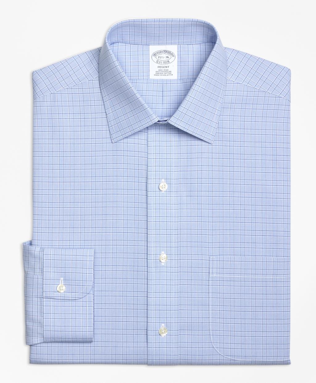 5c9794c6abc9 Regent Fitted Dress Shirt, Non-Iron Glen Plaid - Brooks Brothers