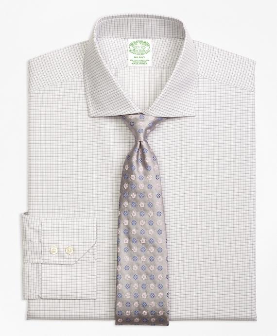 Milano Slim-Fit Dress Shirt, Sidewheeler Check Grey