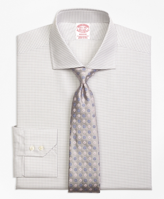 Madison Classic-Fit Dress Shirt, Sidewheeler Check Grey