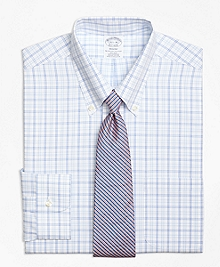 Non-Iron Regent Fit Alternating Twin Tattersall Dress Shirt