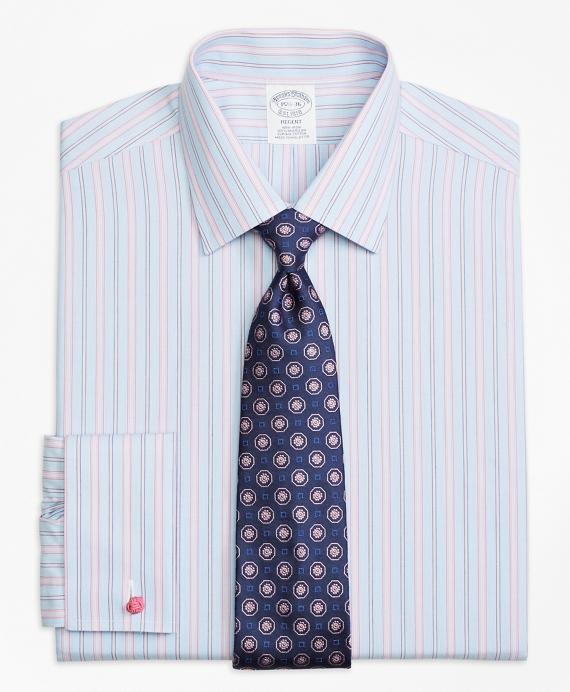 Regent Regular-Fit Dress Shirt,  Non-Iron French Cuff Hairline Track Stripe Pink